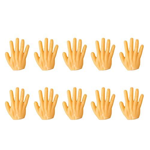 Nicoone 10 bloques de construcción con forma de mano, manos planas estilo dominó mini mano, juegos creativos, juguetes regalos para niños, niñas