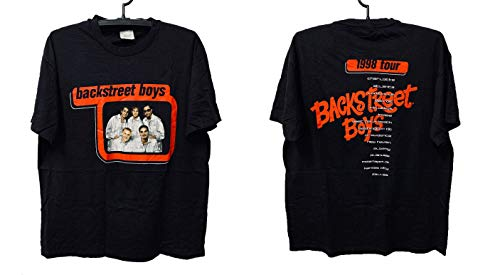 Vintage Design 90S 1998 Back-Streets Boys T-Shirt
