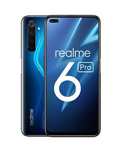 """realme 6 Pro – Smartphone de 6.6"""", 6 GB RAM + 128 GB de ROM, Procesador OctaCore Snapdragon 720G, Cuádruple Cámara AI 64MP, Dual Sim - Color Lightning Blue [Versión Española, compatible con Portugal]"""