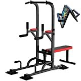 ZYQDRZ Multifunctional Power Tower, Pull-Up And Pull-Down Station, Desktop Home Fitness Equipment, Adjustable Weight Training Heavy-Duty Fitness Machine