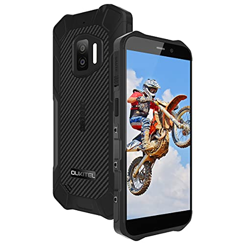 Outdoor Handy OUKITEL WP12 (2021), 5.5 Inch 4000 mAh Battery,4GB RAM+32GB ROM, NFC IP68 13MP + 5MP,Smartphone ohne vertrag Android 11 Dual SIM 4G Smartphone Without Contract,Gray