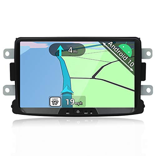 YUNTX Android 10 Autoradio Kompatibel mit Dacia Sandero/Renault Duster/Logan - 8 Zoll GPS mit navi Bluetooth - 2G32G / Dab+ / Lenkradsteuerung/USB/Carplay/WiFi/4G/MirrorLink (mit rückfahrkamera)