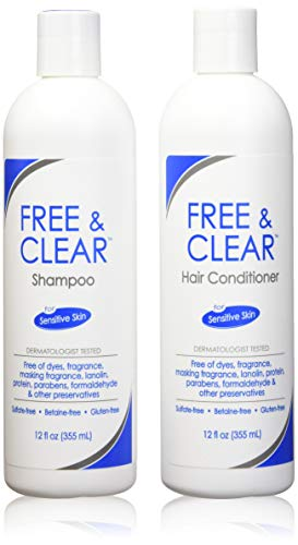 Free & Clear Set, includes Shampoo-12 Oz and Conditioner-12 Oz - One each. by PHARMACEUTICAL SPECIALTIES.