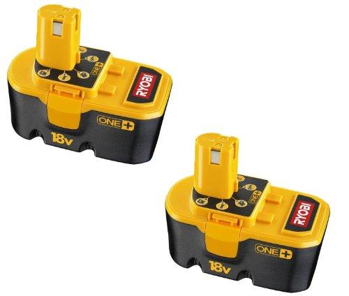 Ryobi P101 18-Volt One Plus Ni-Cd Batteries 2-Pack
