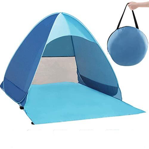Zenoplige Pop Up Tent, Beach Camping Tent Foldable Outdoor UV Lightweight Waterproof tent as Sun Shelter Children Family and Dog on Garden, Beach (Blue)