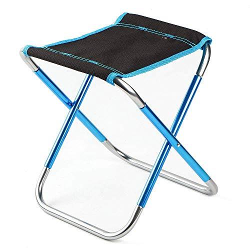SPRINGHUA Mini portátil de viaje Gadget Pesca silla Metro ligero portátil silla telescópica plegable silla adulto al aire libre camping silla