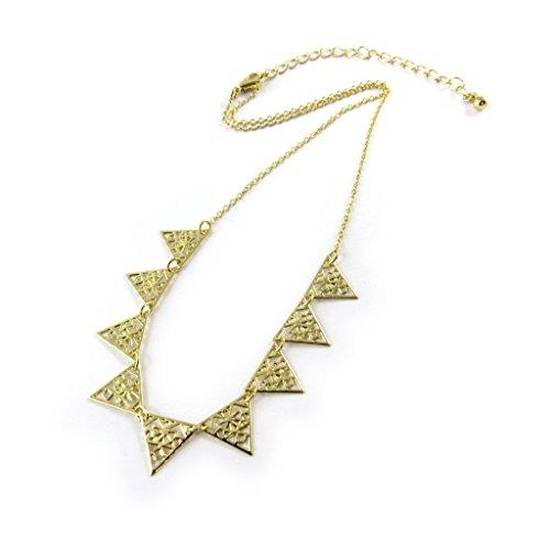 Necklace creator 'Cléopatra'gilded (triangles).