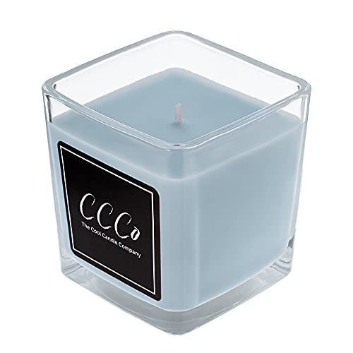Baby Powder Candle. Recycled Glass Jar with Calming and Relaxing Scent.