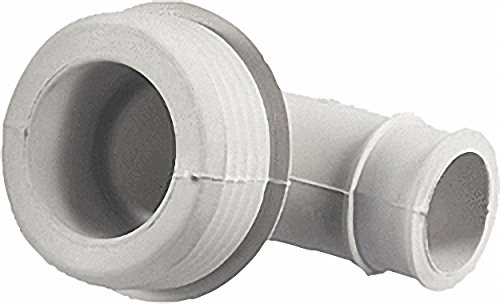 Gummi-Winkel-Spülrohrverbinder hell- für Euro-WC D=55mm Druckspülrohr D=28-32mm