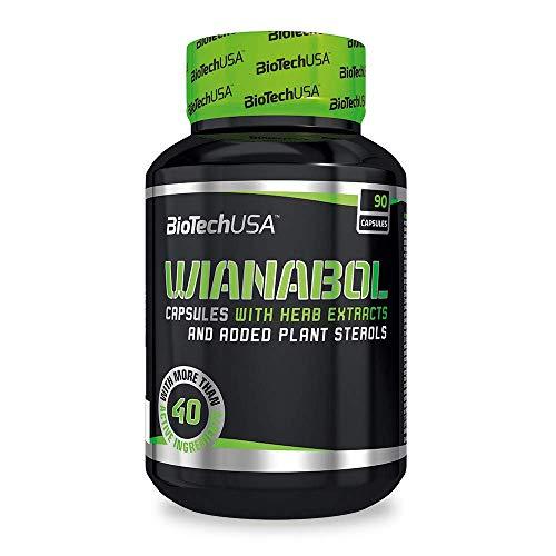 Biotech Wianabol cápsulas con extractos de hierbas y esteroles vegetales añadidos, 90 cápsulas