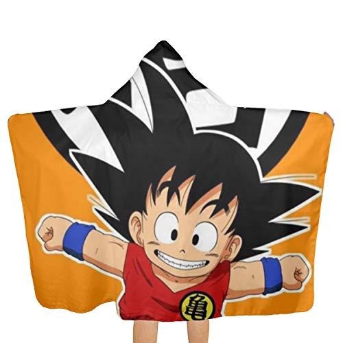 UpGo Dragon Ball Kakarotto Toalla de baño con Capucha para Playa para niños y Adolescentes (niñas y niños) Toalla de Microfibra de Secado rápido Suave con Capucha para niños
