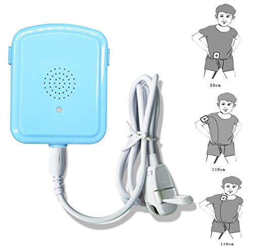 JIN Rechargeable Bed Wetting Alarm Moisture Sensor Bedwetting Monitors Suitable for Baby or Elderly People