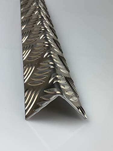 Riffelblech Quintett Aluminiumblech Winkel 2-4 mm stark Zuschnitt, Größe nach Maß Alu Neu (Schenkel: 200mm x 100mm)