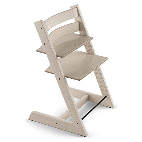 Tripp Trapp by Stokke Adjustable Wooden Whitewash Baby High Chair (Chair Only)