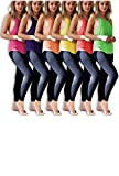 Sexy Basics Womens 6 Pack Active Sport Wide Arm-Hole Loose Fit Work Out Racer Back Tank Tops (6 Pack-NEON-Yellow/Green/Orange/Red/Pink/Purple, Small)