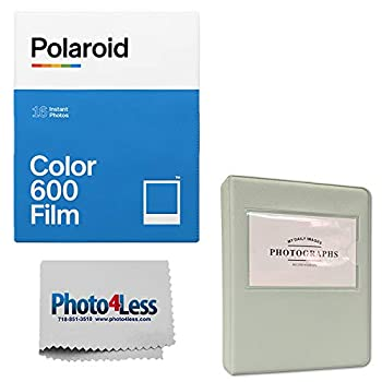 Polaroid Color Instant Film for 600 - Double Pack  16 Sheets    Grey Album for Polaroid Instant Film
