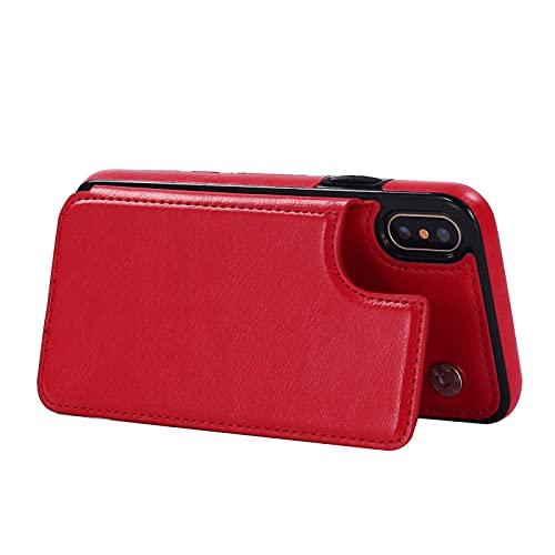 SDLCC - Custodia per iPhone 12/13/Xr, in 2 pezzi, colore: Nero e Rosso