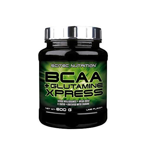 Scitec Nutrition BCAA + Glutamine Xpress, enriquecida con taurina, sin azúcar, 600 g, Lima