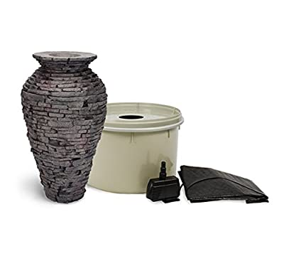 Aquascape Stacked Slate Urn Fountain for Landscape and Gardens
