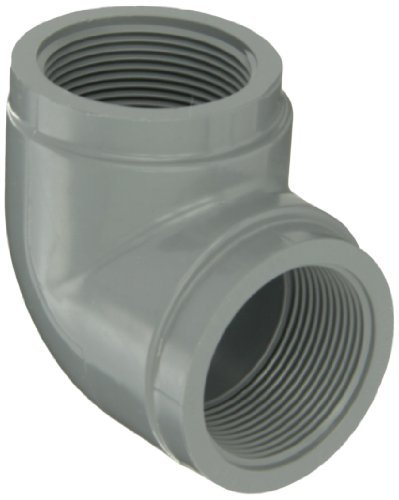 GF Piping Systems CPVC Pipe Fitting, 90 Degree Elbow, Schedule 80, Gray, 1/2 NPT Female by GF Piping Systems