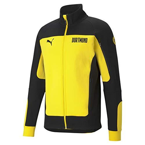 Puma BVB Borussia Dortmund Evostripe 2020-2021, Chaqueta, Cyber Yellow-Puma Black, Talla L
