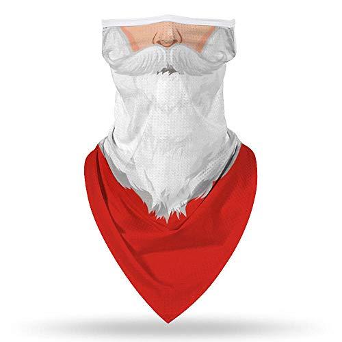 ETGYH Bufanda Para Mujer Nueva Navidad 3D Impresión Máscara Mágica Triángulo Orejas Colgantes Multifuncional Máscara Para Montar Al Aire Libre Babero Bufanda-Turbante Navidad 0029_Los 45X23.5Cm