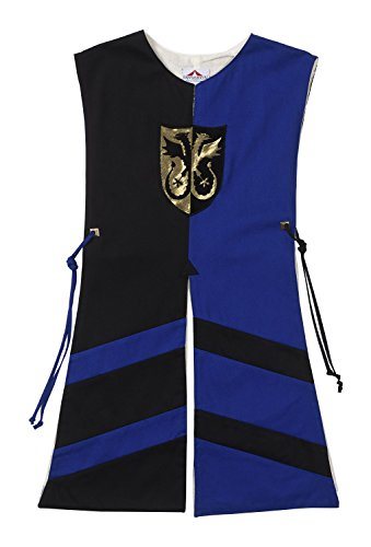 Fantashion G 515 - Kostüme für Kinder, Wappenrock Paul, Größe 2, schwarz/blau