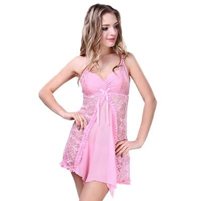 Deargirl Lace Sexy lingerie dress braces skirt sleepwear included matching G string