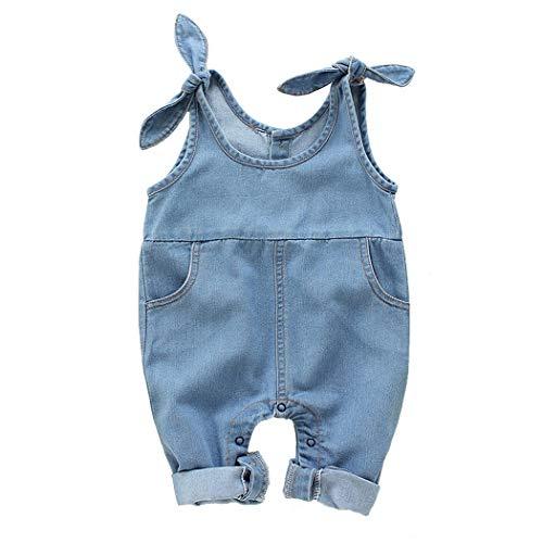 Premewish Latzhose Baby Kleinkind Jungen Mädchen Jeanshose Baumwolle Tasche Jeans Hosen
