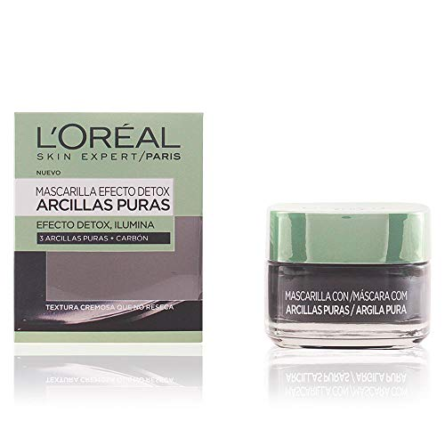 L'Oreal Paris Dermo Expertise - Arcillas puras mascarilla purificante, color negro - total 50 ml