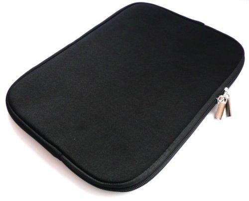 emartbuy® Schwarz Wasserabweisende Weiche Neopren Hülle Schutzhülle Case Cover mit Reißverschluss Amazon Fire HD 7 Tablet (7 Zoll eReader/Tablet/Netbook)