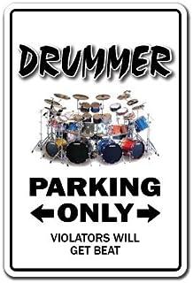 [SignJoker] DRUMMER ~Novelty Sign~ parking signs drum sticks gift Wall Plaque Decoration