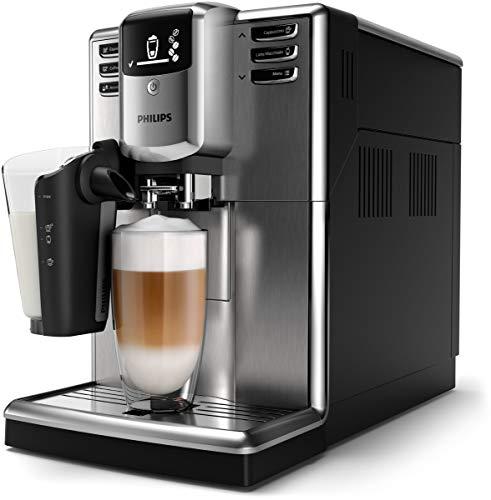 Philips Serie 5000 Latte Go EP5360/10 - Cafetera Súper Automática, 6 Bebidas de Café, Jarra de Leche Latte Go muy Facil de Limpiar, Limpieza Automatica, Molinillo Ceramico