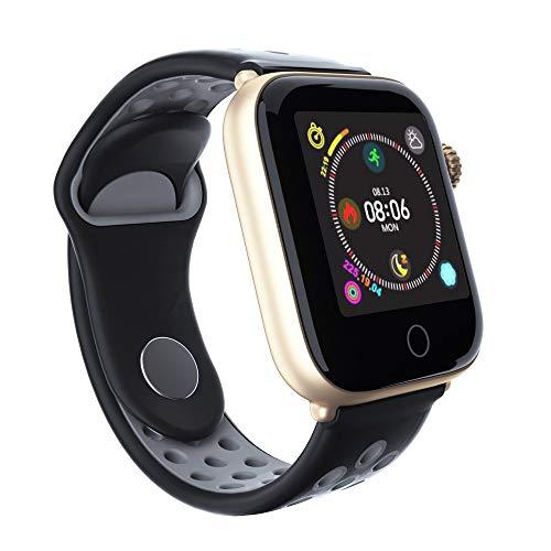 LZXMXR Reloj inteligente, correa de doble color, podómetro impermeable, control de calorías, reloj despertador, recordatorio de información, pulsera inteligente (color: gris plateado)