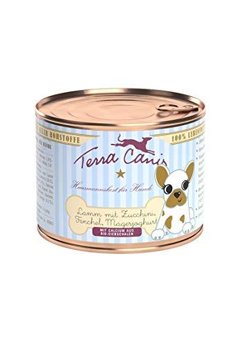 Terra Canis Welpen Nassfutter I Reichhaltiges Premium Hundefutter in echter Lebensmittelqualität mit Lamm, Zucchini, Magerjoghurt & Fenchel I 200g, allergenarm, getreidefrei & glutenfrei