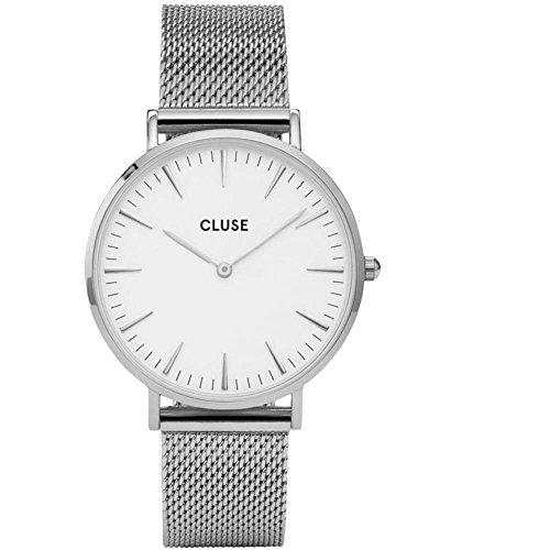 Cluse La Bohème, orologio da polso in maglia, colore argento