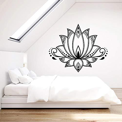 supmsds Vinyl wandtattoo für Schlafzimmer lotusblüte Blume Buddhismus Yoga mädchen Zimmer wandaufkleber Nordic Dekoration kunstwand 63x75 cm