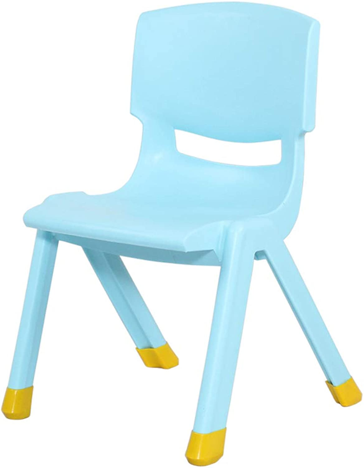 AGLZWY 2 Sets Chair Multipurpose Plastic Thicken Anti-Slip 270° Without Angle Backrest Stool School, 8 colors (color   bluee, Size   32.5X35.5X53CM)