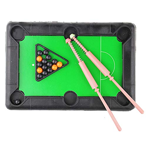 junshi11 Funny Children Interactive Mini Table Desktop Billiard Pool Simulation Portable Competitive Games Toy Set A