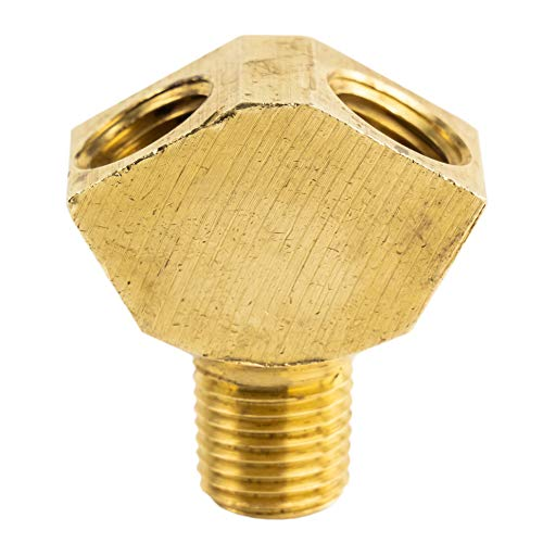 Brass Y Splitter 1/4' MNPT x 1/4' FNPT Fitting Gas .25' x .25' WYE Fitting