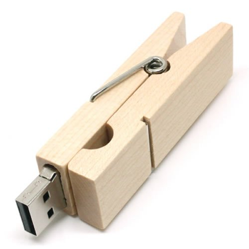 Neuheit Holz Wäscheklammer Clip Modell High Speed USB Flash Laufwerk Memory Stick 16GB USB 2.0Pen Treiber Daumen U Disk für Dokumente Foto Musik Aufbewahrung