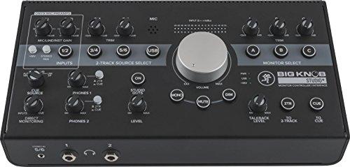 Mackie Big Knob Series 4x3 Studio Monitor Controller 192kHz USB I/O (BIG-Knopf Studio Plus)