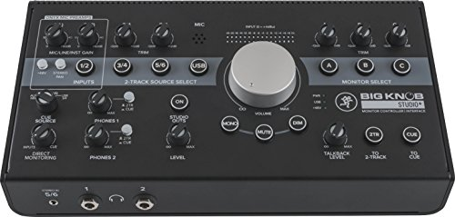 Mackie Big Knob Series, 4x3 Studio Monitor Controller 192kHz USB I/O (BIG KNOB STUDIO PLUS)