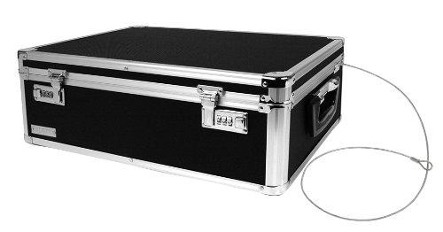 Vaultz Locking Storage Chest/Dorm Storage with Combination Locks, 6.5 x 19 x 13.5 Inches, Black...