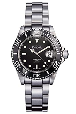 Davosa Automatic Stainless Steel Black Face Ternos Creamic Wrist Watch