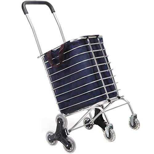 Nueva escalera de cuatro ruedas de escalada práctica luz coche de compras pequeño carro de lona hogar con bicicleta plegable redonda vegetal 8 ruedas de gran capacidad plegable