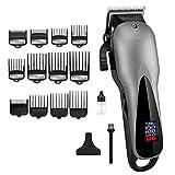 Cortapelos Cordless Hair Clippers Barber Professional Electric Hair Cutter Men Adjustable Hair Cutting Machine Hair Cut Head/12 Guide Combs
