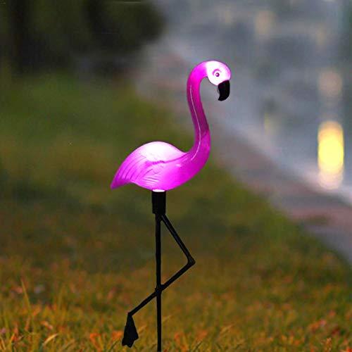 Ledmomo solaire à LED pelouse lumière flamants roses de jardin d'éclairage extérieur étanche Sol spot Flamingo Motif White Light 3 pcs