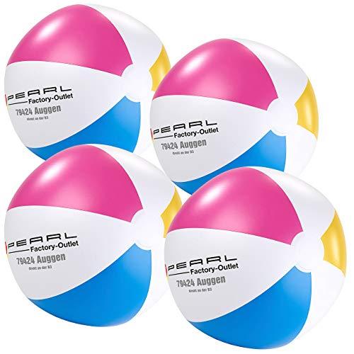 PEARL Ball zum Aufblasen: 4er-Set Aufblasbare Wasserbälle, Mehrfarbig, Ø 33 cm (Wasserball Aufblasen)