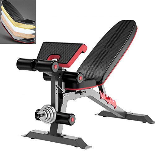 LFMXLD Fold-Up Sit-Up Board, Fitnesstraining Bauchmuskeln, Hantel Bank, Fitness-Stuhl, Bewegung Bett, Einfach Zu Speichern Haus Fitness-Studio.